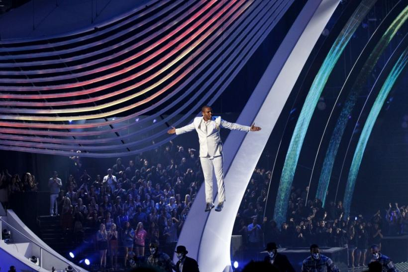 Singer Chris Brown performs at the 2011 MTV Video Music Awards in Los Angeles