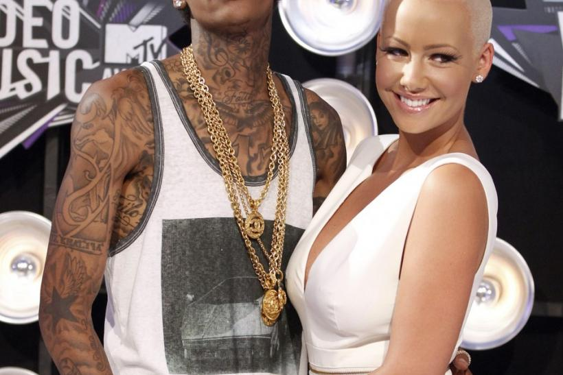 Rapper Whiz Khalifa and model Amber Rose