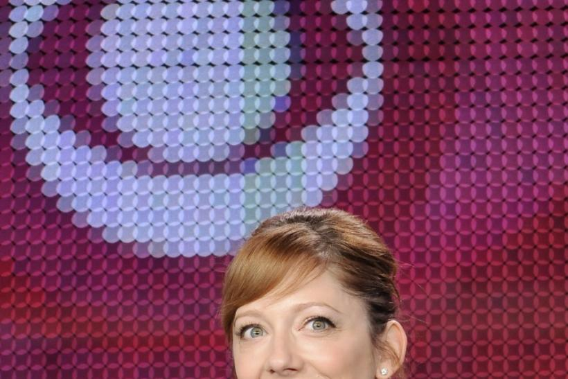 "Actress Judy Greer takes part in a panel discussion for the show ""Mad Love"" at the CBS and Showtime portion of the 2011 Winter Press Tour for the Television Critics Association in Pasadena, California"