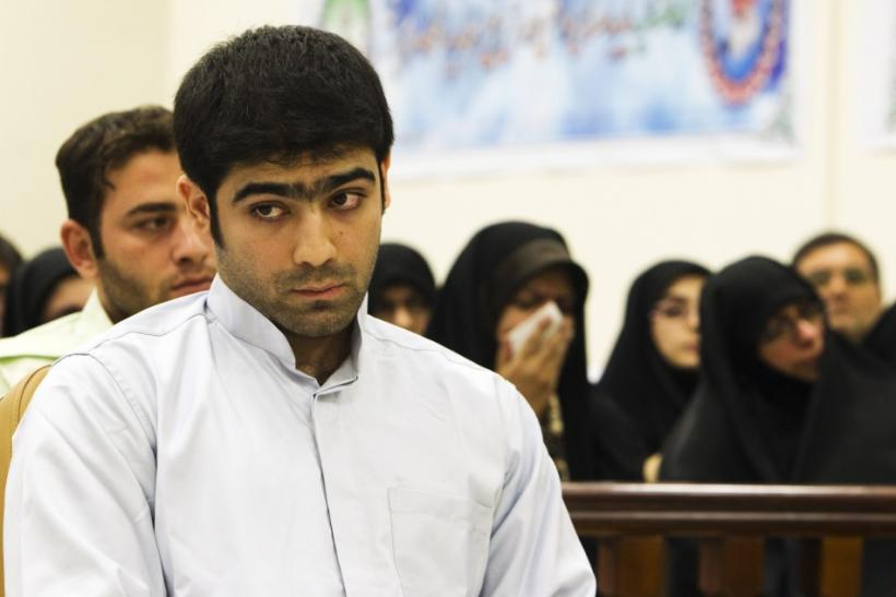 Majid Jamali Fashi, accused of assassinating Iranian scientist Massoud Ali-Mohammadi, attends his trial at the revolutionary court in Tehran