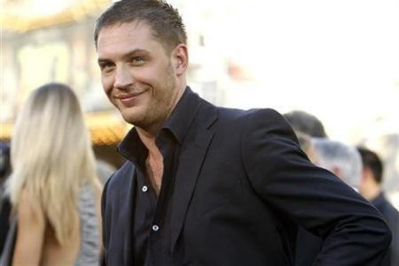 Cast member Tom Hardy poses at the premiere of ''Inception'' at the Grauman's Chinese theatre in Hollywood