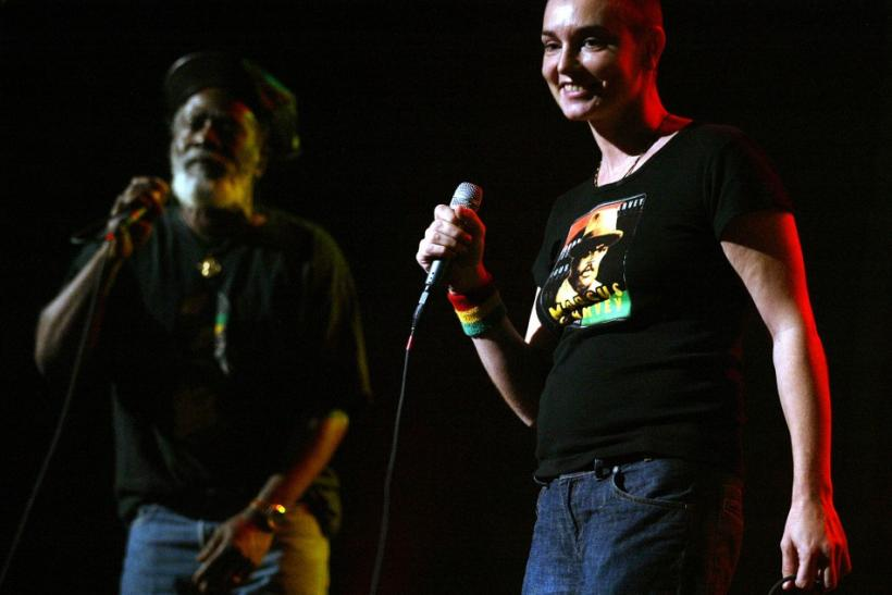 Sinead O Connor performs with Burning Spear at Jammy Awards in New York.