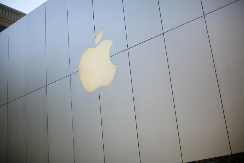 The Apple logo is seen on the company's retail store in downtown San Francisco