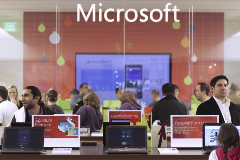 Customers shop at the new Microsoft Store in Bellevue
