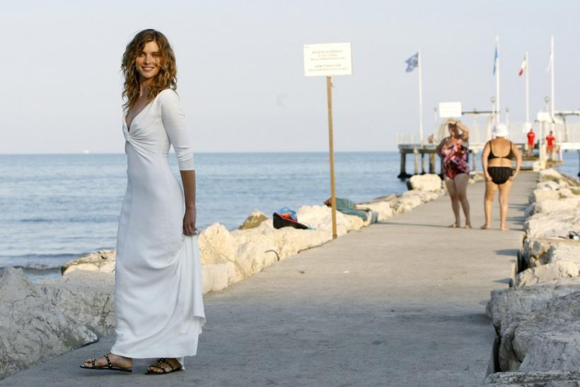 Italian actress Vittoria Puccini poses for photographers in Venice