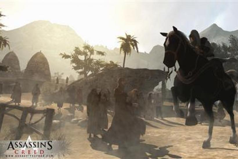 "An undated screenshot from the video game ""Assassin's Creed."""