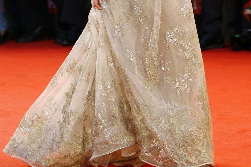 "Actress Keira Knightley walks on the ""A Dangerous Method"" red carpet at the 68th Venice Film Festival"
