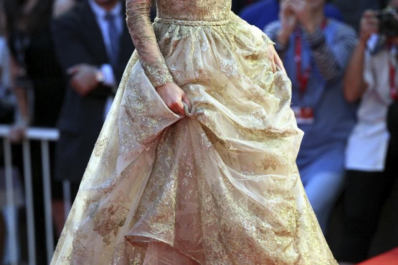 "Actress Keira Knightley arrives on the ""A Dangerous Method"" red carpet at the 68th Venice Film Festival"