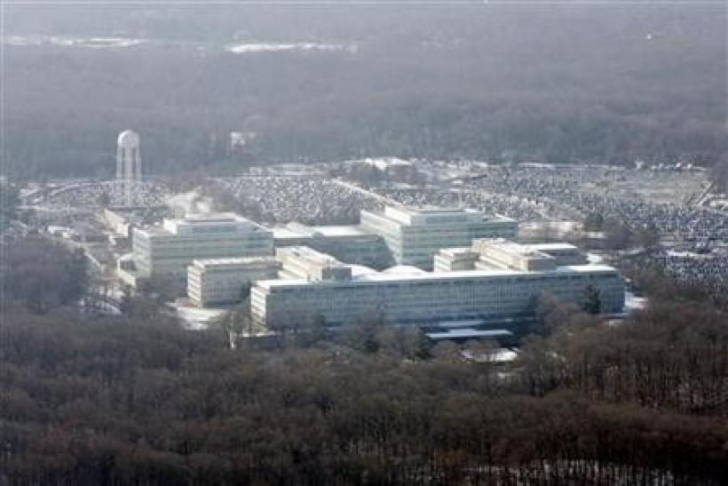 An aerial view of the U.S. Central Intelligence Agency (CIA) headquarters in Langley