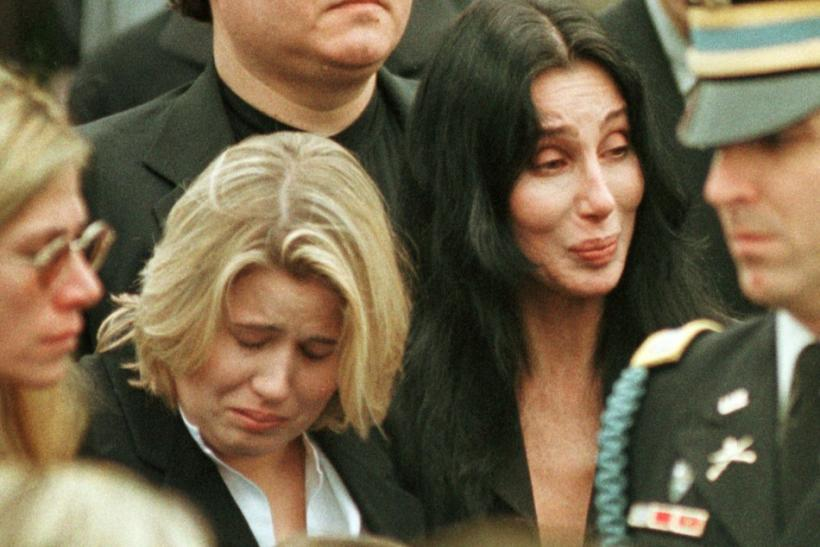 Chastity and Cher at Sonny Bono's Funeral