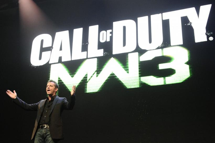 "Activision Publishing CEO Eric Hirshberg speaks during the premiere of the video game ""Call of Duty: Modern Warfare 3"" in Los Angeles, California"