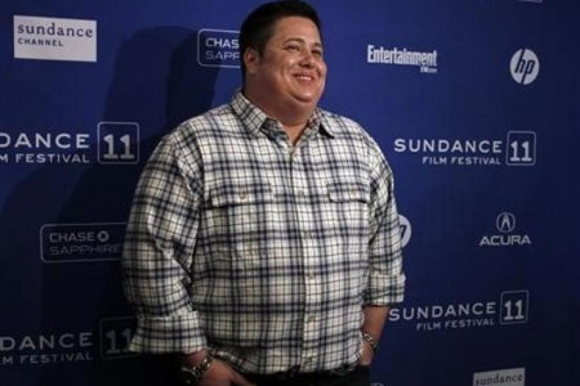 Cast member Chaz Bono poses for the media before the screening of the film ''Becoming Chaz'' during the Sundance Film Festival in Park City, Utah