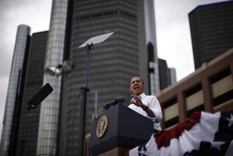 U.S. President Obama speaks at a Labor Day event in Detroit