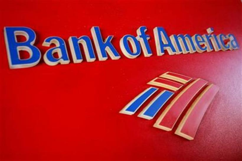 A Bank of America sign is displayed outside a branch in Tucson