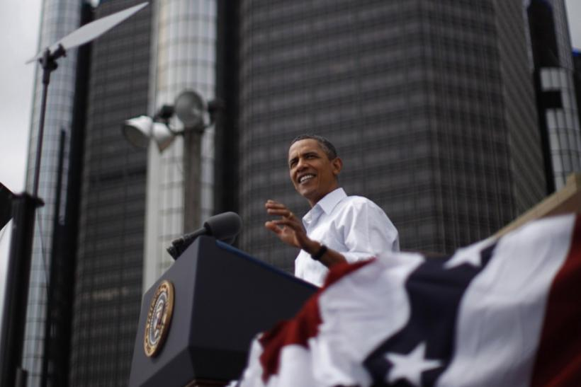 U.S. President Barack Obama at the 2011 Labor Day Rally.
