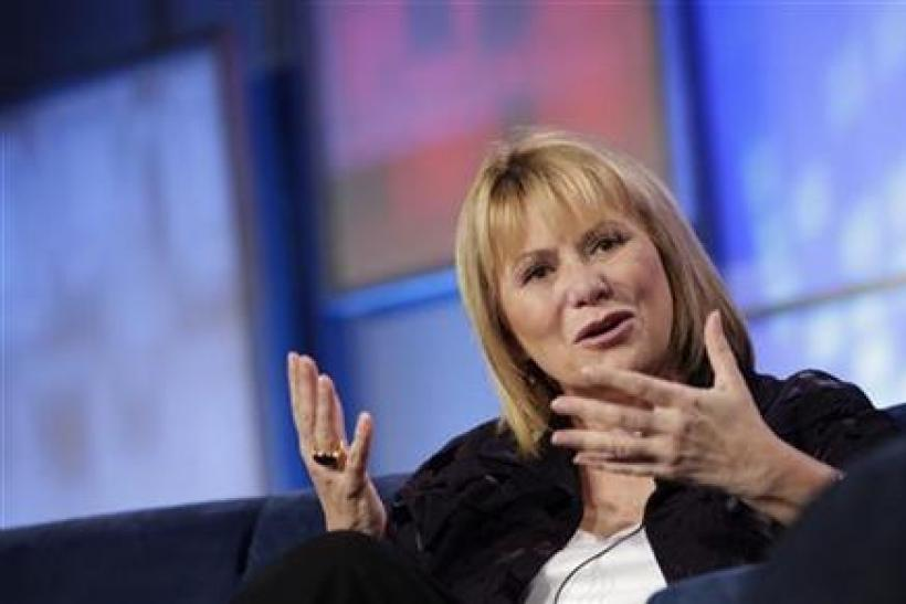 Yahoo Chief Executive Carol Bartz gestures during her appearance at the Web 2.0 Summit in San Francisco