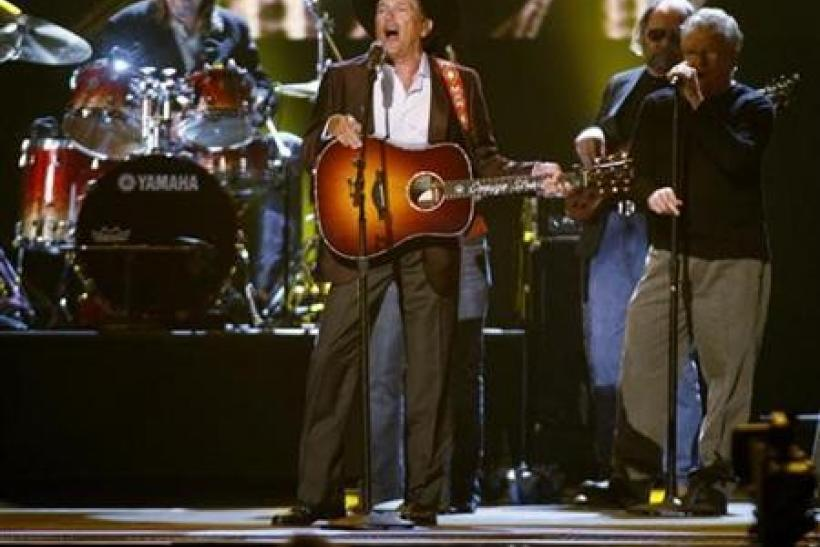 Singer George Strait performs ''Twang'' performs at the 43rd annual Country Music Association Awards in Nashville