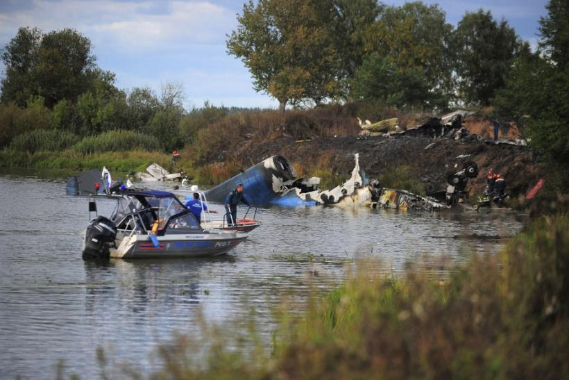 Russian hockey team plane crash