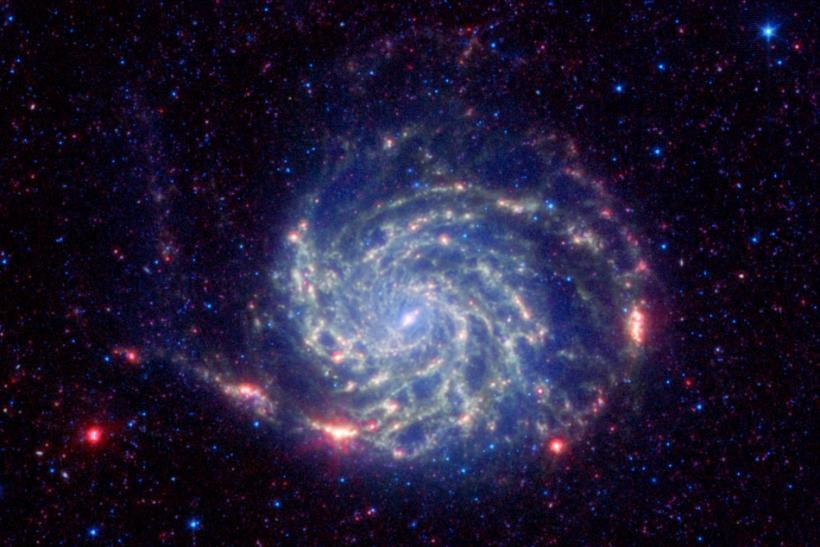 Image of the Pinwheel galaxy from NASA's Spitzer Space Telescope