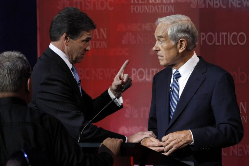 Rick Perry Grabs Ron Paul