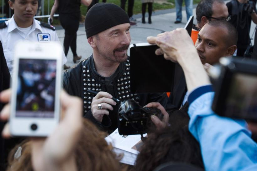 """The Edge"" of U2 arrives at the red carpet for the film ""From the Sky Down"" at the 36th Toronto International Film Festival in Toronto"