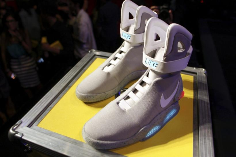 A pair of 2011 NIKE MAG shoes