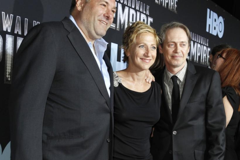 "Actors Gandolfini, Falco and Buscemi arrive at the premiere of ""Boardwalk Empire"" in New York City"