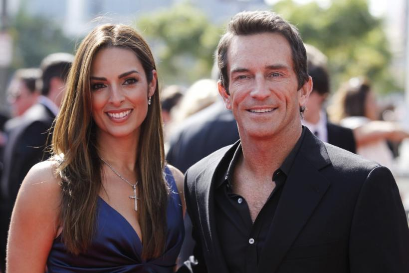 "Host of reality show ""Survivor"" Jeff Probst (R), nominated for Outstanding Host For A Reality Or Reality-Competition Program, and guest arrive at the 2011 Primetime Creative Arts Emmy Awards in Los Angeles"