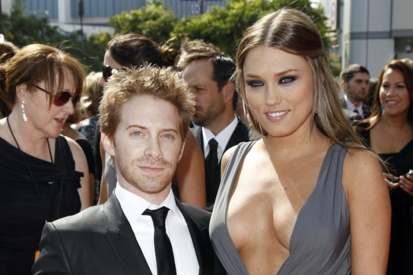 Actor Seth Green and wife Clare Grant arrive at the 2011 Primetime Creative Arts Emmy Awards in Los Angeles