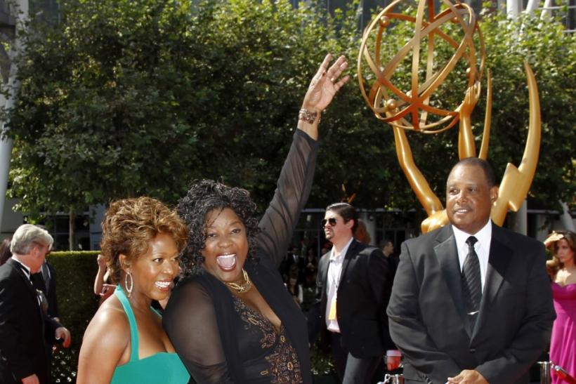 Actresses Alfre Woodard (L) and Loretta Devine arrive at the 2011 Primetime Creative Arts Emmy Awards in Los Angeles