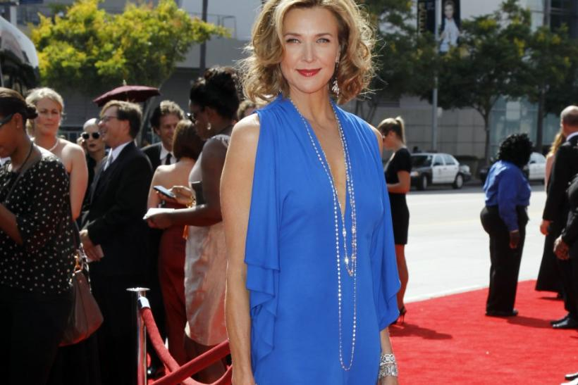 Actress Brenda Strong arrives at the 2011 Primetime Creative Arts Emmy Awards in Los Angeles