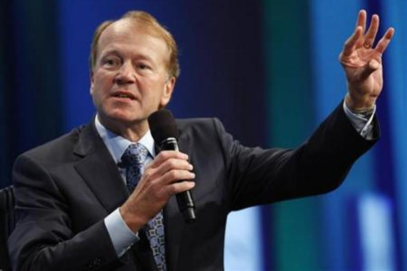 "John Chambers, Chairman and Chief Executive Officer of Cisco, participates in a panel discussion titled ""Enhancing Access to Modern Technology,"" at the Clinton Global Initiative, in New York"