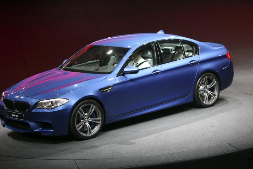 German luxury carmaker BMW presents the company's new M5 series during the International Motor Show (IAA) in Frankfurt