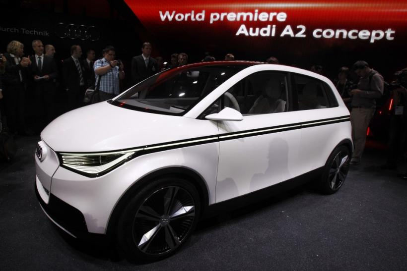 The new Audi 'A2 Concept' car is displayed during the International Motor Show (IAA) in Frankfurt
