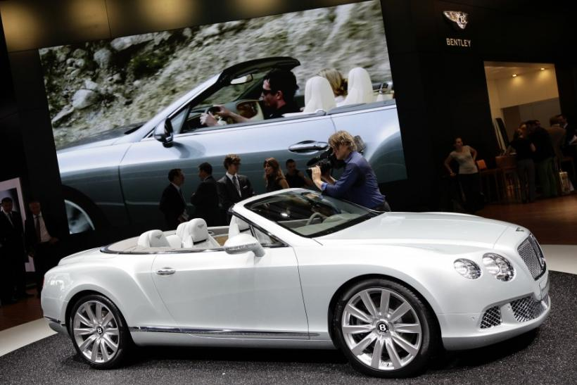 The new Bentley Continental GTC is on display during the International Motor Show (IAA) in Frankfurt