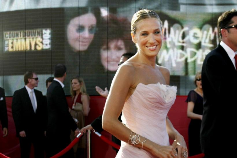 ACTRESS SARAH JESSICA PARKER ARRIVES AT EMMY AWARDS.