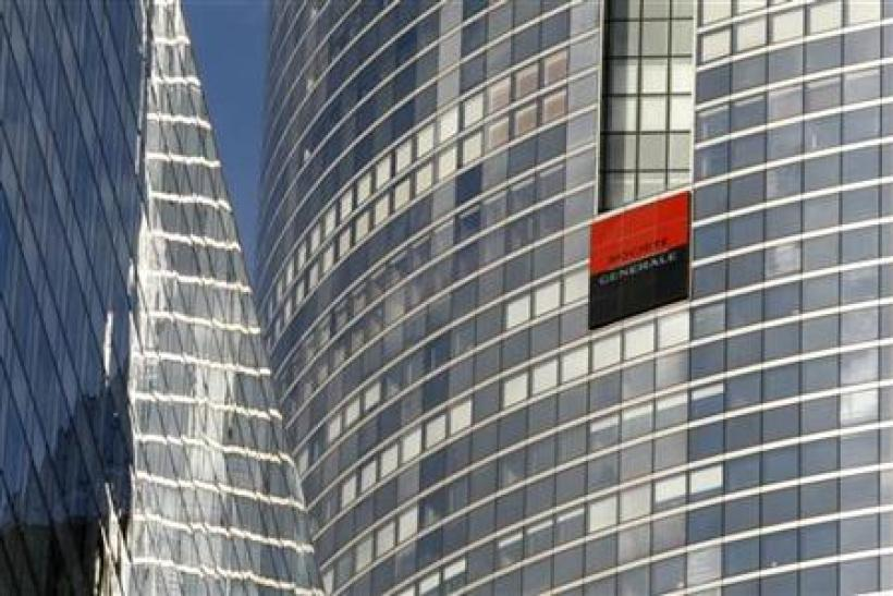 Headquarters of French bank Societe Generale in the La Defense business district near Paris