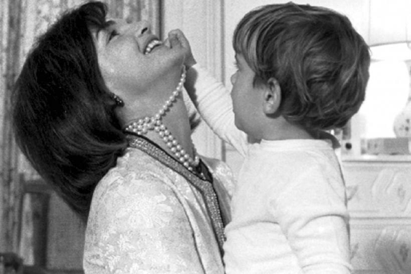 Jackie Kennedy and JFK, Jr.