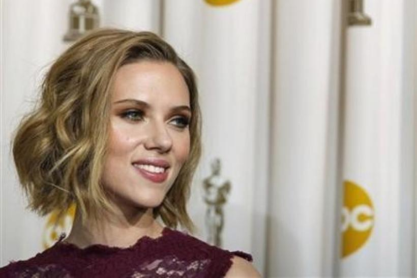 Presenter Scarlett Johansson is pictured backstage at the 83rd Academy Awards in Hollywood, California