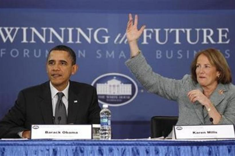 U.S. President Barack Obama speaks at the Winning the Future Forum on Small Business at Cleveland State University in Ohio