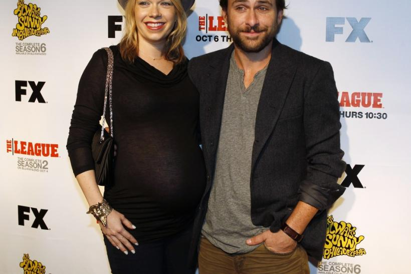 "Cast member Mary Elizabeth Ellis and her husband, actor Charlie Day, pose at the seventh season premiere screening of the FX cable television series ""It's Always Sunny in Philadelphia"" in Hollywood"