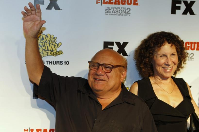"Actor Danny DeVito and his wife Rhea Perlman arrive at the premiere screening of the FX cable television series ""It's Always Sunny in Philadelphia"" in Hollywood"