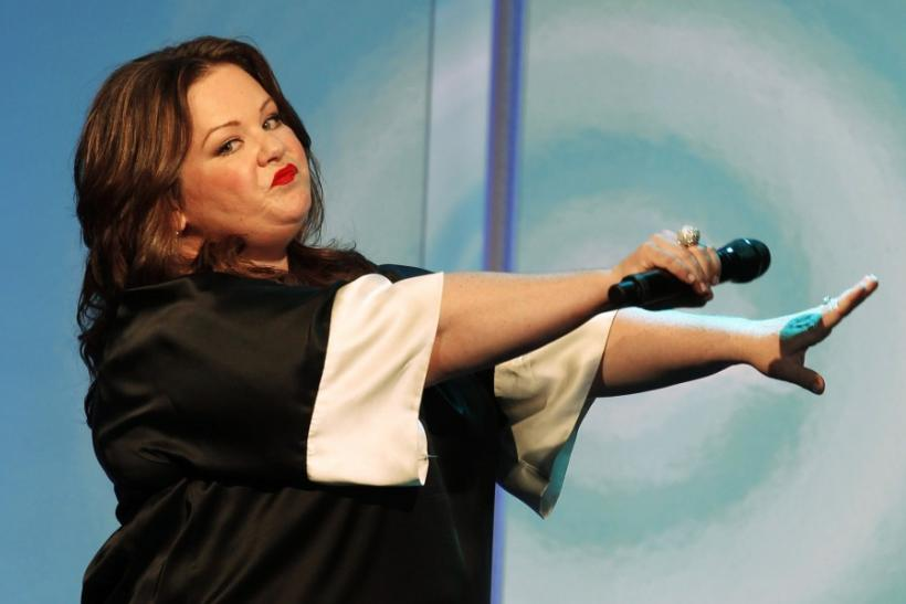 "Actress Melissa McCarthy performs a ""rap"" song at the Women In Film Los Angeles 2011 Crystal and Lucy Awards Impact in Beverly Hills"