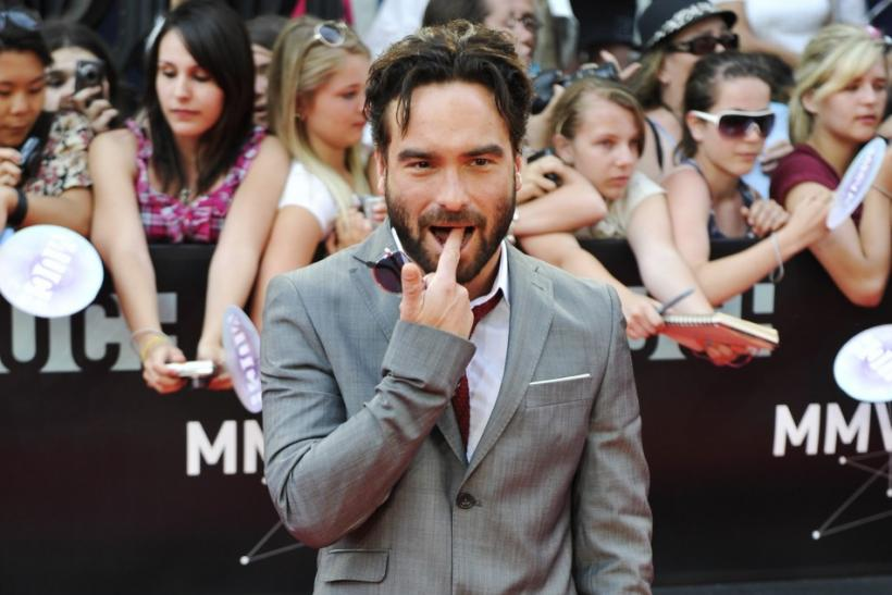 Actor Johnny Galecki arrives on the red carpet during the MuchMusic Video Awards in Toronto