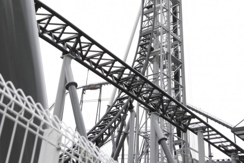 "Handout picture of the world's steepest roller coaster ""Takabisha"" with a free falling angle of 121 degrees"