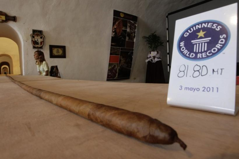 The world's longest cigar