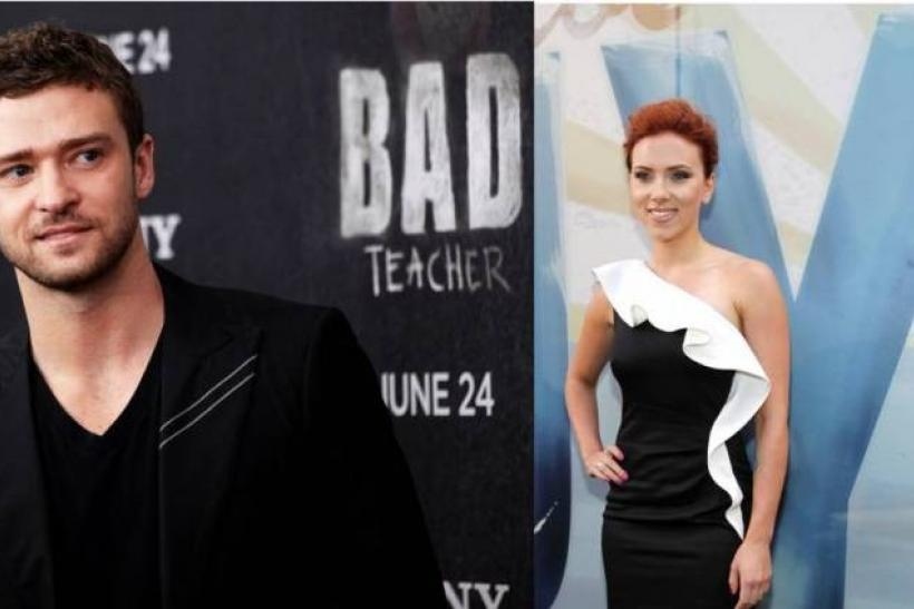 Scarlett, Justin Set Aside Nude Photo Worries, Party