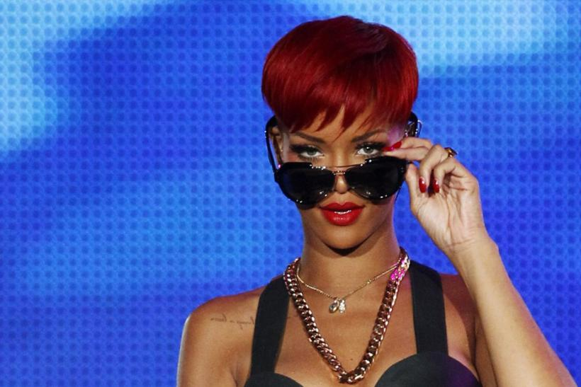 "Singer Rihanna performs during the ""Rock in Rio"" music festival in Arganda del Rey near Madrid"