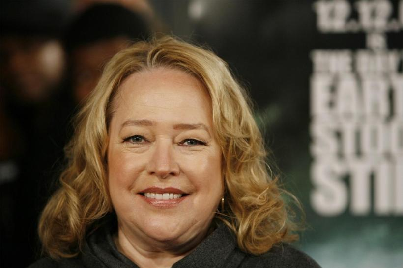 "Actress Kathy Bates arrives for the premiere of the film ""The Day The Earth Stood Still"" in New York."