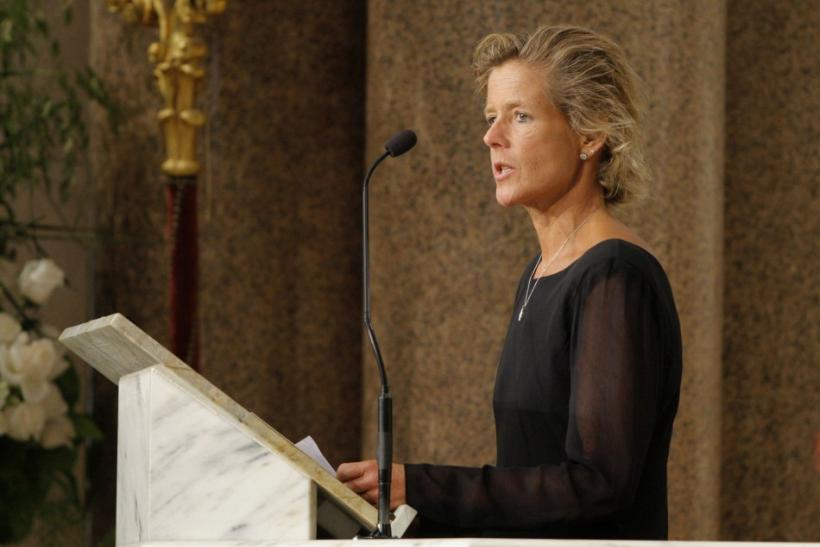 File photo of Kara Kennedy Allen, daughter of U.S. Senator Edward Kennedy, speaking during her father's funeral service in Boston